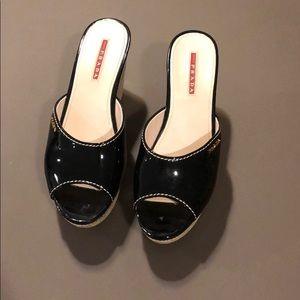 Prada patent  sandals